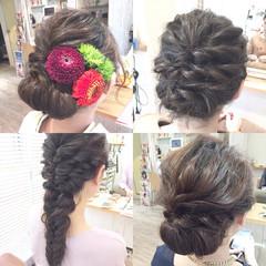 ボブ ヘアアレンジ 結婚式 アップスタイル ヘアスタイルや髪型の写真・画像