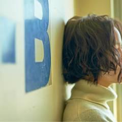 ボブ ストレート ウェーブ ストリート ヘアスタイルや髪型の写真・画像