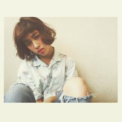 パーマ ボブ 外国人風 大人女子 ヘアスタイルや髪型の写真・画像