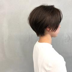 小顔 ジェンダーレス ナチュラル 似合わせ ヘアスタイルや髪型の写真・画像