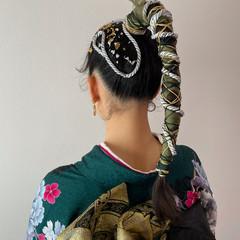 ガーリー ロング ポニーテールアレンジ 成人式ヘア ヘアスタイルや髪型の写真・画像
