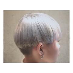 ストリート ハイライト 春 透明感 ヘアスタイルや髪型の写真・画像
