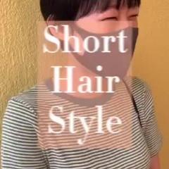 ショートボブ マッシュショート ベリーショート ショートヘア ヘアスタイルや髪型の写真・画像