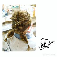 ミディアム フィッシュボーン 三つ編み 編み込み ヘアスタイルや髪型の写真・画像