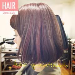 大人かわいい ダブルカラー カラーバター ボブ ヘアスタイルや髪型の写真・画像
