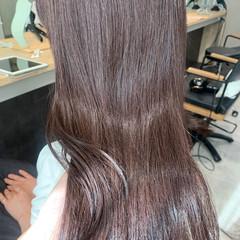 ショコラブラウン ラベンダーカラー ロング チョコレート ヘアスタイルや髪型の写真・画像