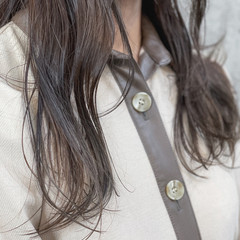 ロング ベージュ パーマ ナチュラル ヘアスタイルや髪型の写真・画像