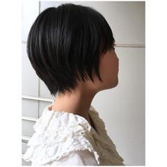 ショートボブ 黒髪ショート ショートヘア マッシュショート ヘアスタイルや髪型の写真・画像