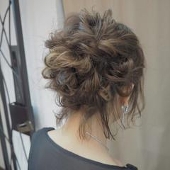 結婚式 ボブ ヘアアレンジ ナチュラル ヘアスタイルや髪型の写真・画像