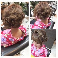 フェミニン 外国人風 ブラウン 夏 ヘアスタイルや髪型の写真・画像