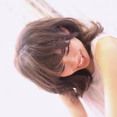 ゆるふわ ミディアム 暗髪 大人かわいい ヘアスタイルや髪型の写真・画像