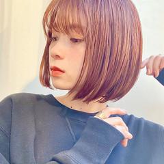 ミニボブ 前髪あり ショートヘア ボブ ヘアスタイルや髪型の写真・画像
