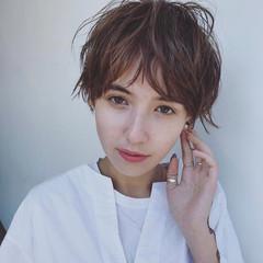 ショート ストリート ゆるふわ 外国人風 ヘアスタイルや髪型の写真・画像