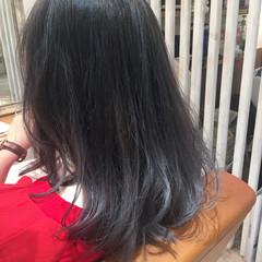 グラデーションカラー ガーリー ミディアム アッシュ ヘアスタイルや髪型の写真・画像