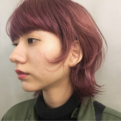 ショート ウルフカット ダブルカラー ハイトーン ヘアスタイルや髪型の写真・画像