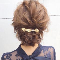 簡単ヘアアレンジ ナチュラル デート 成人式 ヘアスタイルや髪型の写真・画像