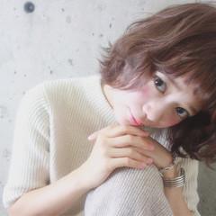 ショート 色気 冬 ハイライト ヘアスタイルや髪型の写真・画像