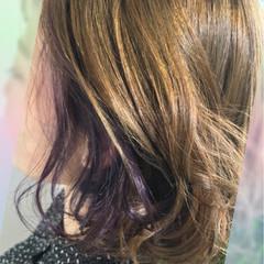 インナーカラー 外国人風カラー ゆるふわ ボブ ヘアスタイルや髪型の写真・画像