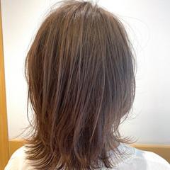 大人かわいい ベージュカラー ミディアム ミニボブ ヘアスタイルや髪型の写真・画像