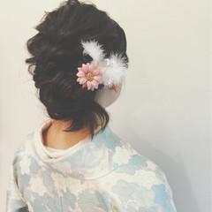 ヘアアレンジ 謝恩会 ミディアム ショート ヘアスタイルや髪型の写真・画像