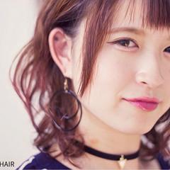 ストリート ピンク ボブ ラベンダーピンク ヘアスタイルや髪型の写真・画像