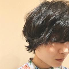 ウルフパーマ マッシュショート モード マッシュ ヘアスタイルや髪型の写真・画像