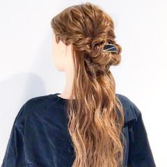 ロング ヘアアレンジ 上品 デート ヘアスタイルや髪型の写真・画像