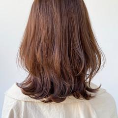 大人女子 透明感 大人ミディアム アンニュイほつれヘア ヘアスタイルや髪型の写真・画像