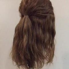 大人かわいい 簡単ヘアアレンジ セミロング ショート ヘアスタイルや髪型の写真・画像