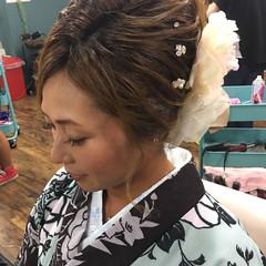 エレガント 結婚式 ヘアアレンジ 上品 ヘアスタイルや髪型の写真・画像