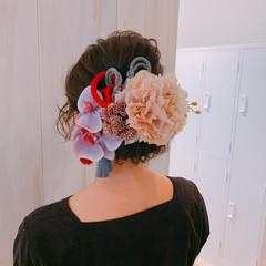ナチュラル 結婚式ヘアアレンジ 卒業式 ヘアアレンジ ヘアスタイルや髪型の写真・画像
