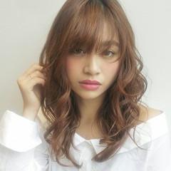 ロング 大人かわいい デート 透明感 ヘアスタイルや髪型の写真・画像