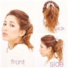 簡単ヘアアレンジ ロング ゆるふわ 外国人風 ヘアスタイルや髪型の写真・画像