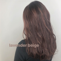 ベージュ アッシュベージュ ラベンダー ラベンダーピンク ヘアスタイルや髪型の写真・画像