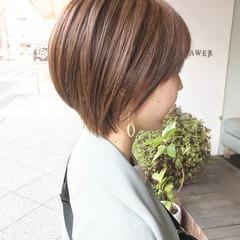 毛束感 ナチュラル ショート ショートヘア ヘアスタイルや髪型の写真・画像