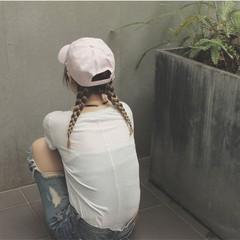 大人かわいい 簡単ヘアアレンジ ハイライト ショート ヘアスタイルや髪型の写真・画像