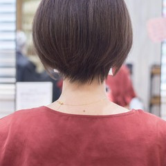 フェミニン ショートヘア 大人かわいい ハンサムショート ヘアスタイルや髪型の写真・画像