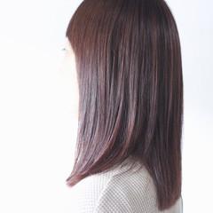 パープルカラー ナチュラル アッシュバイオレット バイオレットアッシュ ヘアスタイルや髪型の写真・画像