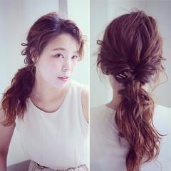 くせ毛風 ロング ヘアピン ヘアアクセ ヘアスタイルや髪型の写真・画像