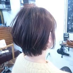 ボブ ナチュラル 色気 ベリーピンク ヘアスタイルや髪型の写真・画像