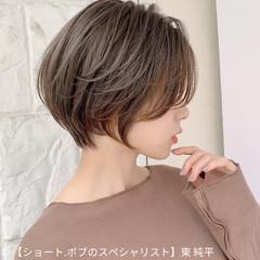ハイライト マッシュショート ショート ショートボブ ヘアスタイルや髪型の写真・画像