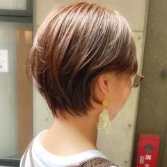 インナーカラー ブリーチカラー 髪質改善 ショートボブ ヘアスタイルや髪型の写真・画像