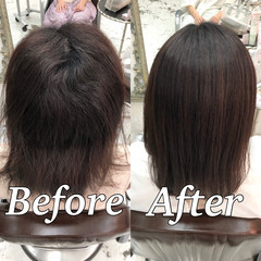 ミディアム ツヤ髪 美髪 髪質改善 ヘアスタイルや髪型の写真・画像