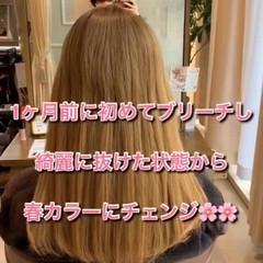 デザインカラー セミロング イルミナカラー ナチュラル ヘアスタイルや髪型の写真・画像