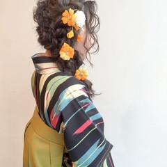 波ウェーブ 謝恩会 ヘアアレンジ ロング ヘアスタイルや髪型の写真・画像