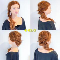 オフィス 簡単ヘアアレンジ ロング ヘアアレンジ ヘアスタイルや髪型の写真・画像