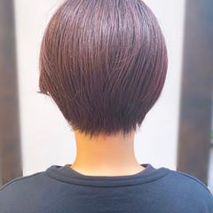 耳かけ ショート ナチュラル ショートヘア ヘアスタイルや髪型の写真・画像