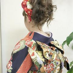 結婚式 成人式 ヘアアレンジ ガーリー ヘアスタイルや髪型の写真・画像