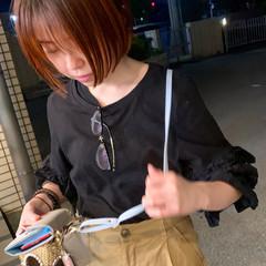 ストリート ダブルカラー オレンジカラー ショート ヘアスタイルや髪型の写真・画像