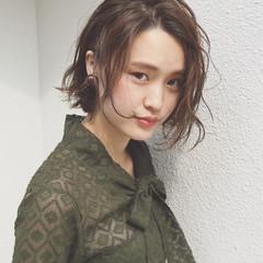 アッシュ パーマ 外国人風 ショート ヘアスタイルや髪型の写真・画像